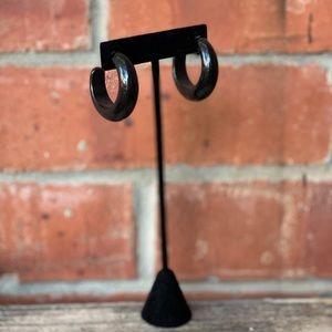 Vintage Black Hoop Earrings